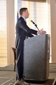 Speaker of the House Kurt Daudt told attendees explained the House Republicans' vision and goals for the rest of the legislative session.