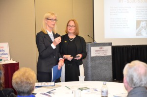 MSBA lobbyists Denise Dittrich (left) and Grace Keliher updated members on key issues during a breakout session. Visit http://www.mnmsba.org/Portals/0/PDFs/Advocacy/JLC-2015-MSBA-Breakout.pdf to view a copy of this presentation.