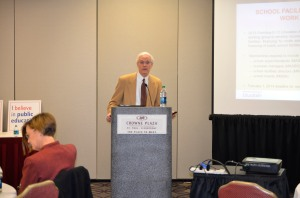 """Tom Melcher (School Finance Director for the Minnesota Department of Education) presented """"School Facilities Financing Working Group: Summary of Report and Recommendations"""" to MSBA members. You can view a copy of his presentation at http://www.mnmsba.org/Portals/0/PDFs/Advocacy/JLC-2015-SchoolFacilities.pdf."""